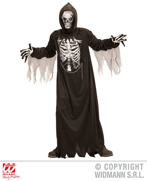 Boys Chain Reaper Grim Soul Spectre Skeletal Death Angel Halloween