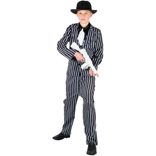 Boys Chicago Gangster Costume for 20s 30s Molls Fancy Dress