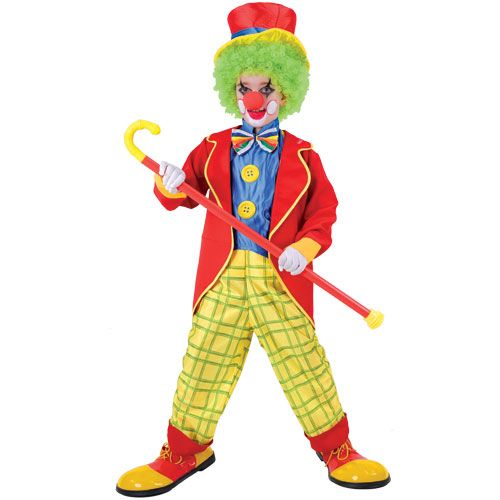 Boys Circus Clown Costume for Carnival Circus Funfair Fancy Dress Kids Childs