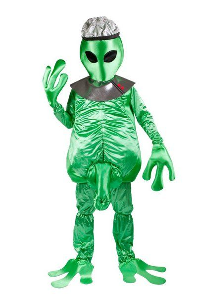 Boys Costume Alien Green Space Creature UFO Sci Fi