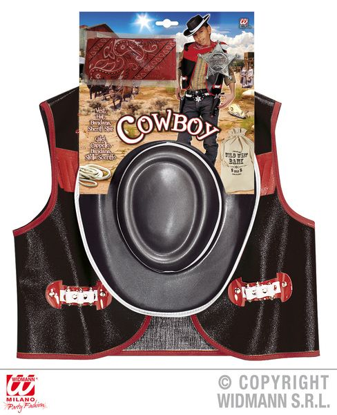 Boys Cowboy Black Costume Wild West Usa Rodeo Dallas Farmer Fancy Dress Outfit