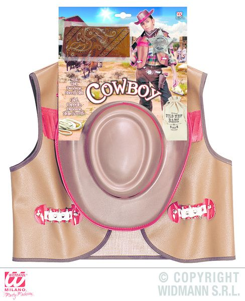 Boys Cowboy set Costume Wild West Usa Rodeo Dallas Farmer Fancy Dress Outfit