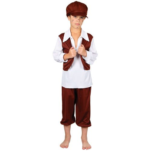Boys Victorian Chimney Sweep Costume for Fancy Dress Childrens Kids Childs
