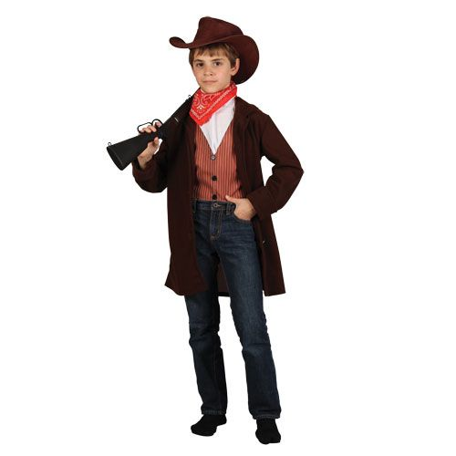 Boys Western Outlaw Costume for Cowboys Indians Fancy Dress Kids Childs