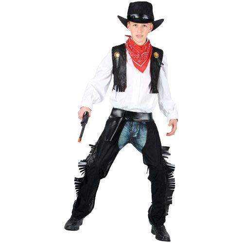 Boys Wild West Cowboy Costume for American Wild West & Indians Fancy Dress