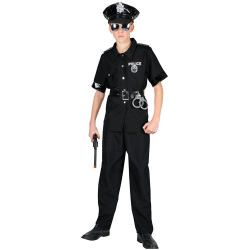 Boys York Cop Costume for Cops Police Robbers Law Fancy Dress Kids Childs