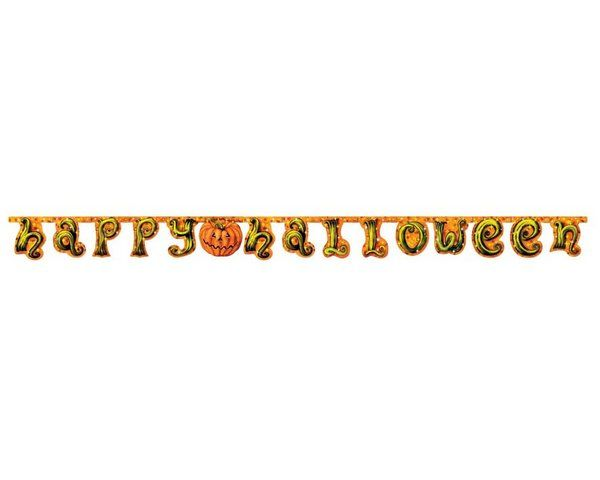 Bunting Happy Halloween  Pumpkin Design Creepy Trick Treat