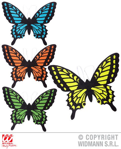 Butterfly Wings 4 Colors Asstd Bug Insect Animal Creature Fancy Dress