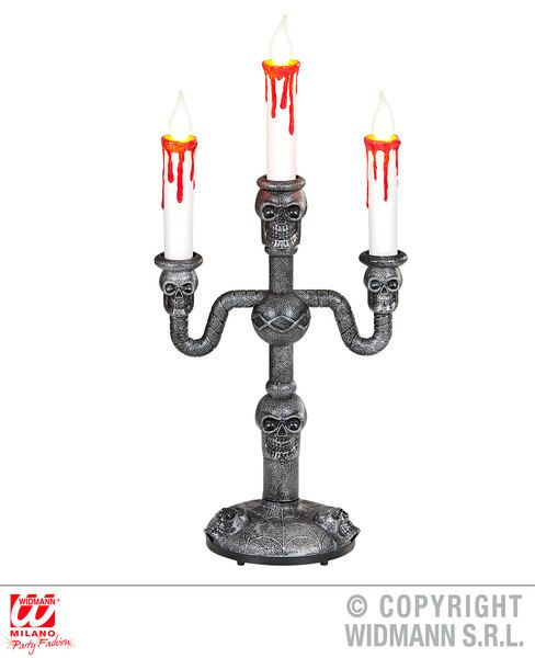Candelabra W/3 Candles Halloween Haunted Mansion Fancy Dress
