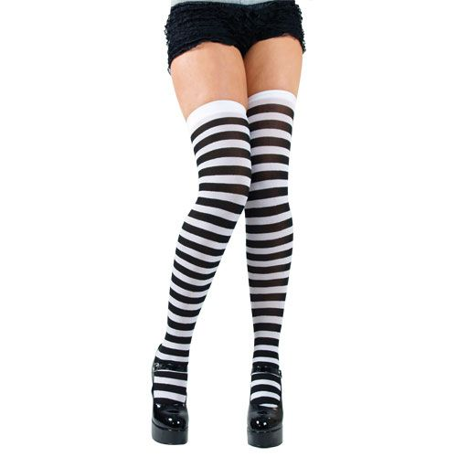 Candystripe thigh Highs for Sexy Adult Role Play Fancy Dress
