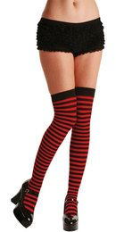 Candystripe thigh Highs Sexy Erotic Sissy Cosplay Fancy Dress Cosplay