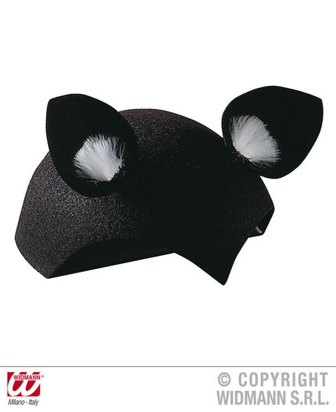 Cat Cap Felt Black Hat Pussy Pet Animal Feline Witch Fancy Dress