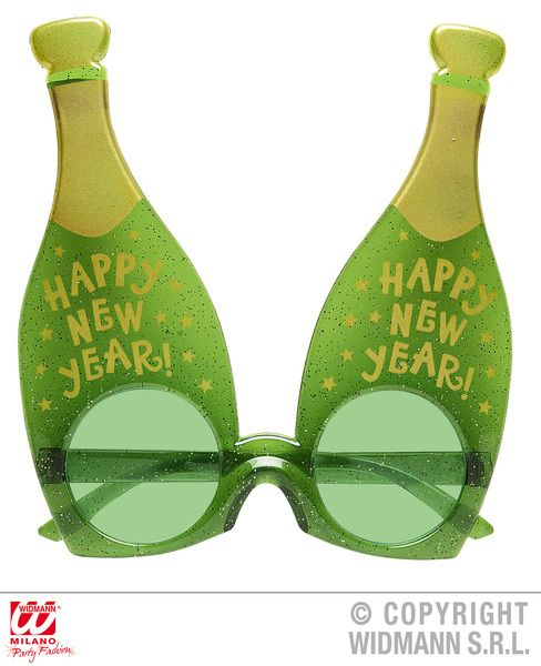 Champagne New Year Bottle Glasses Fancy Dress