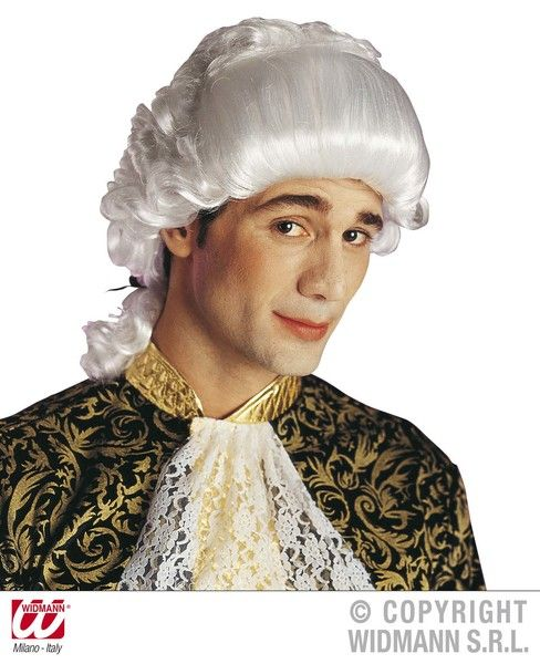 Chevalier Wig Boxed White Pantomime Panto Prince Fancy Dress