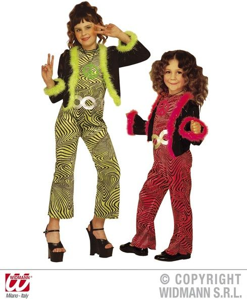 Child 70s Trendy Costume Groovy 70s Disco Hippy Fancy Dress Outfit