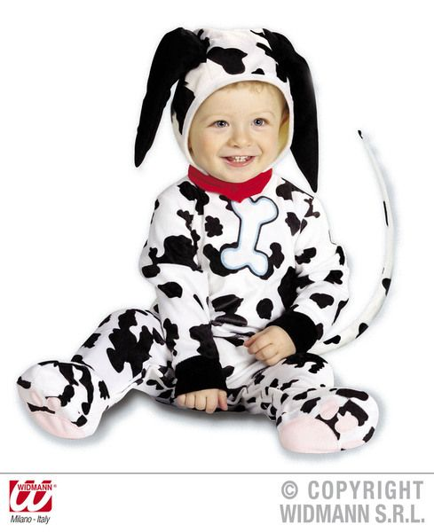 Child Baby Dalmation Costume Fairytale 101 Animal Dog Pet Fancy Dress Outfit