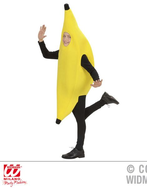 Child Banana 110cm/116cm Costume Food Fruit Fancy Dress Outfit