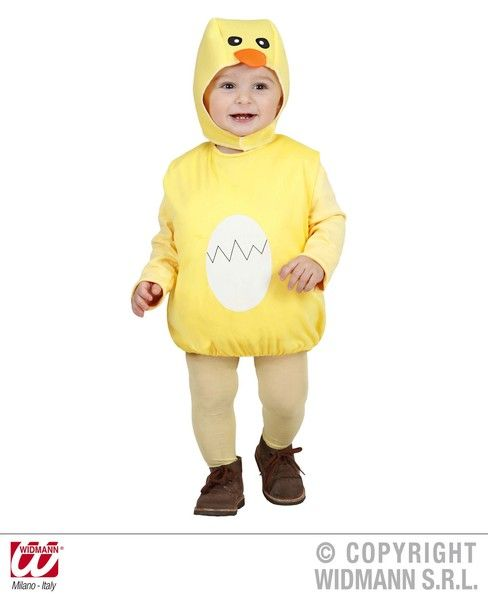 Child Chick 104cm Costume Baby Chicken Animal Easter Fancy Dress Outfit