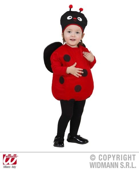 Child Ladybug Costume Ladybird Insect Bug Animal Creature Fancy Dress Outfit