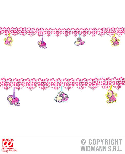 Child Printed Hearts Garland W/ Babies 3 M Decoration Love Eros Valentine