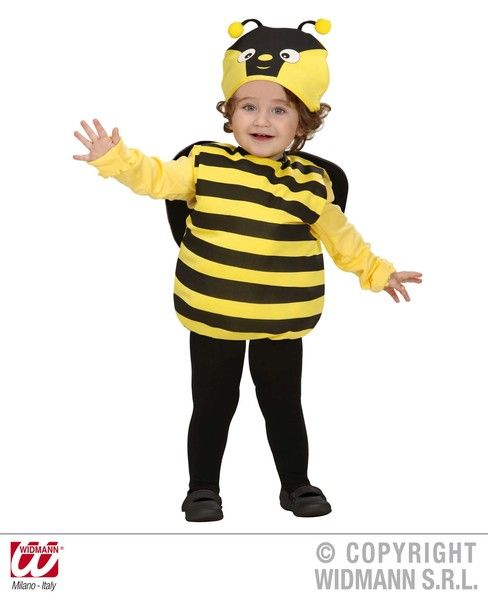 Child Unisex Bee Costume Flying Bug Honey Fancy Dress Cosplay Outfit