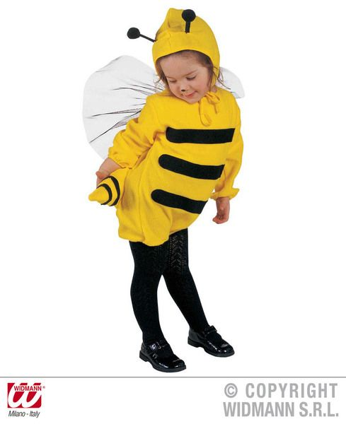 Child Unisex Little Bee Costume Flying Bug Honey Fancy Dress Cosplay Outfit