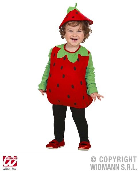 Child Unisex Strawberry 104cm Costume Fancy Dress Cosplay Outfit