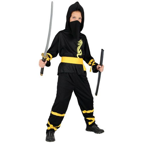 Childrens Boys Dragon Ninja Costume for Welsh Wales Animal St George Fancy Dress