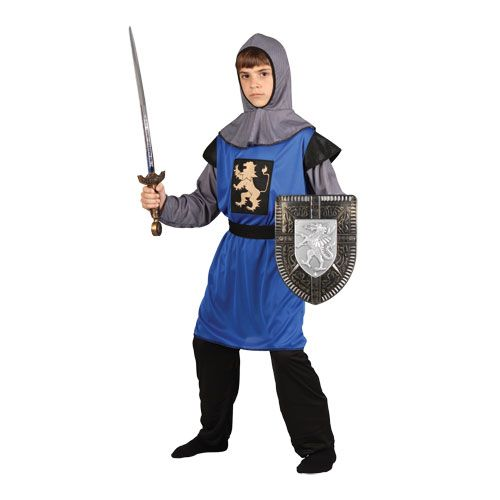 Childrens Boys Medieval Knight Costume for Middle Dark Ages Fancy Dress