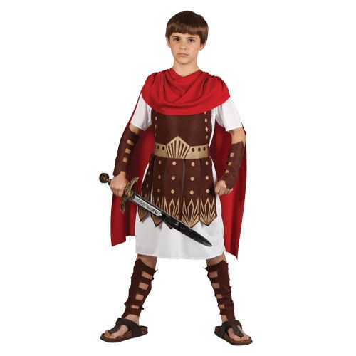 Childrens Boys Roman Centurion Costume for Ancient Rome Greek Latin Fancy Dress