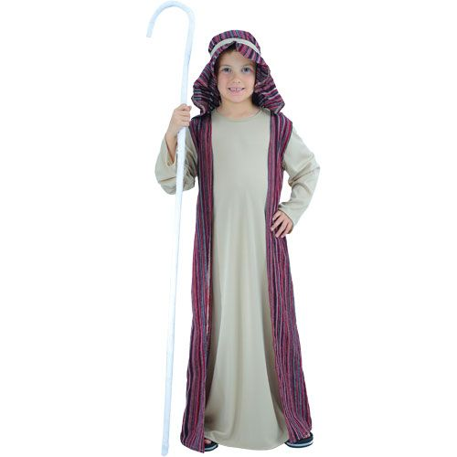 Childrens Boys Shepherd Costume for Nativity Christmas Sheep Farmer Fancy Dress