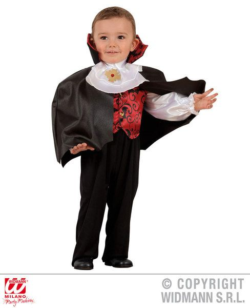 Childrens Boys Vampire Fancy Dress Costume Dracula Halloween Outfit