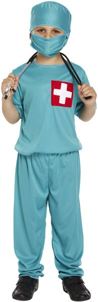 Childrens Doctor Fancy Dress Costume for Kids Boys & Girls Surgeon Dress Up Outfit