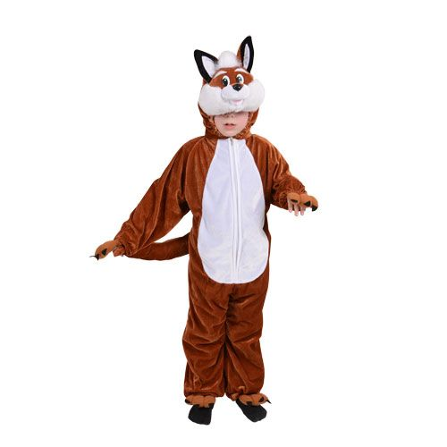Childrens Fantastic Fox Costume for Fantastic Sly Farm Animal Basil Fancy Dress