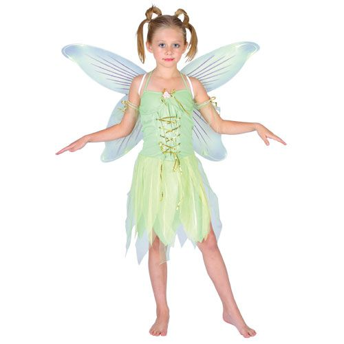 Childrens Girls Neverland Fairy Costume for Peter Pan Fairytale Fancy Dress