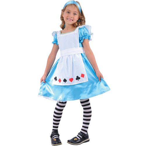 Childrens Girls Storybook Alice Costume for Fairytale Story Book Fancy Dress