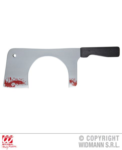Chopping Knife / Cleaver Thru The Head Toy Weapon Knive Dagger Halloween Plastic