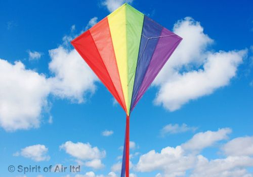 Classic Diamond Rainbow Kite for Adult & Childrens Outdoor Beach Camping Sports Games & Gifts
