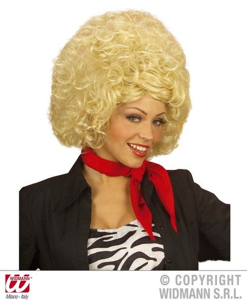 Country Diva Wig Blonde Wild West Rodeo Cowhand Usa Dolly Fancy Dress