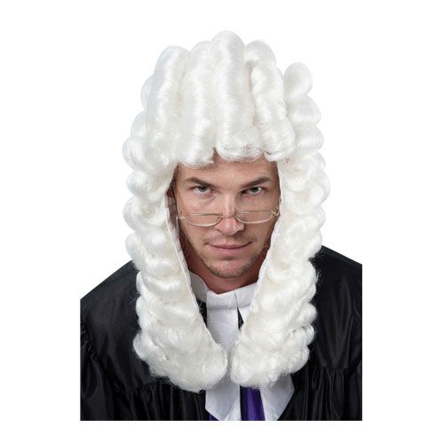 Court Judge Wig for Judge Barrister Brief Solicitor Fancy Dress