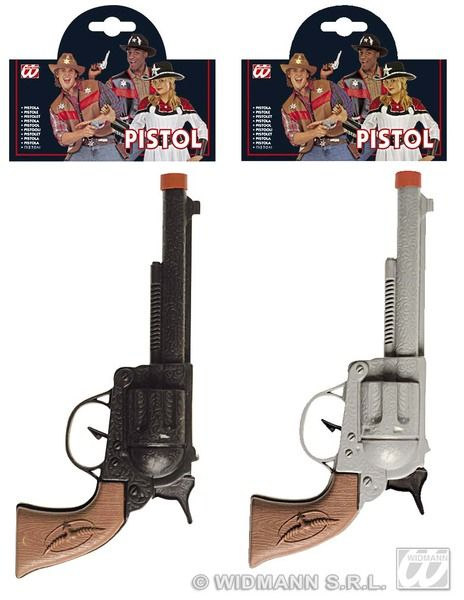 Cowboy Pistol 2 Colss Wild West Usa Rodeo Dallas Farmer Plastic Novelty Toy