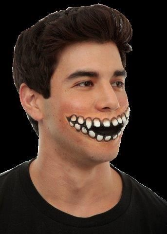 Creepy Grin Prosthetic Mouth of Teeth Grinning SFX Halloween Fancy Dress Cosplay