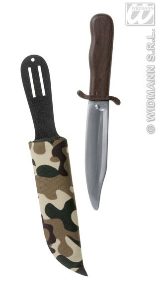 Dagger W/ Camouflage Scabbard Novelty Fake Knife Weapon Plastic Novelty Toy