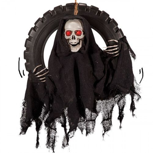Decorative Hanging Skeleton Wheel 40cm Halloween Walking Dead Trick Or Treat