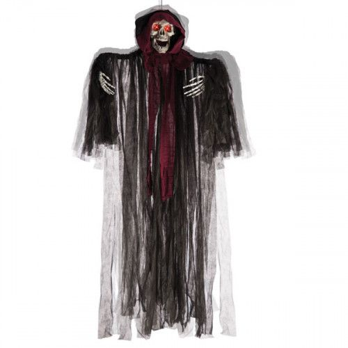Decorative Hanging Skeleton Witch With Sound Halloween Walking Dead