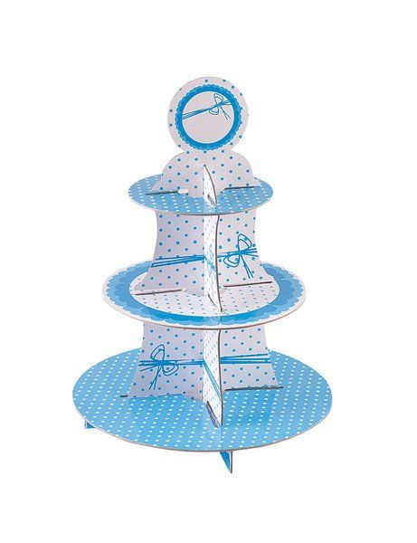 Dots Blue Cake Stand 3 Tier Round Wedding Anniversary Christmas Party Decoration