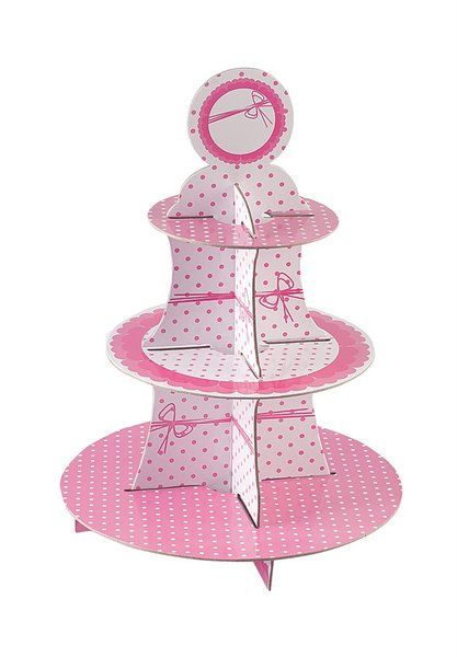 Dots Pink Cake Stand 3 Tier Round Wedding Anniversary Christmas Party Decoration