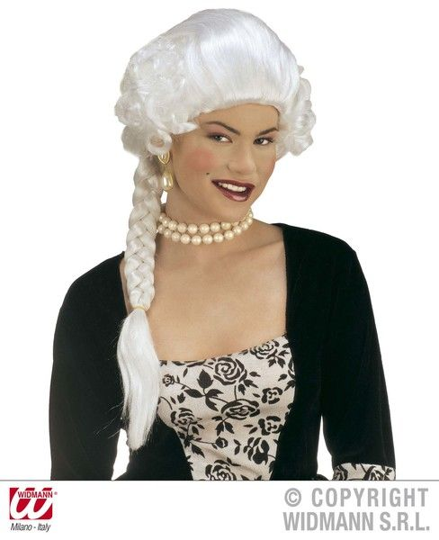 Duchess Josephine White Wig Queen Royal Princess Fancy Dress