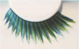 Eye Lash set Fun Black Blue Green Cosmetics Makeup