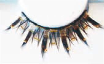 Eye Lash set Fun Black Silver Gold Cosmetics Makeup